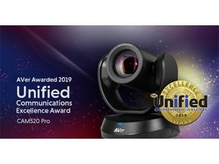 Конференц-камера AVer Саm520 Pro для видеоконференций получает награду UC Excellence в 2019 году